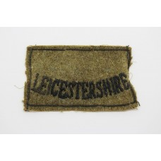 Leicestershire Regiment (LEICESTERSHIRE) Cloth Slip On Shoulder Title