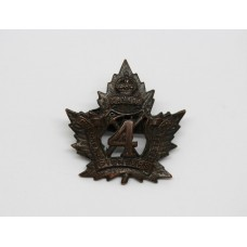 Canadian 4th Overseas Pioneers Battalion Officer's Collar Badge