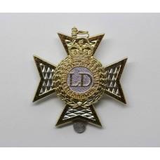 Light Dragoons Anodised (Staybrite) Cap Badge