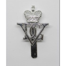 5th Dragoon Guards Anodised (Staybrite) Cap Badge - Queen's Crown