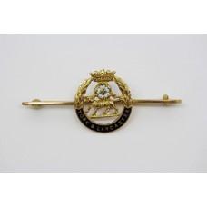York & Lancaster Regiment 9ct Gold & Enamel Sweetheart Brooch