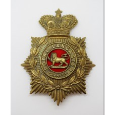 Victorian King's Own (Royal Lancaster) Regiment Blue Cloth Helmet Plate