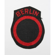 Berlin District Cloth Formation Sign
