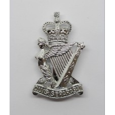 Royal Ulster Rifles Anodised (Staybrite) Cap Badge - Queen's Crown