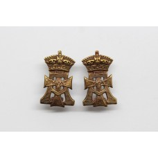 Pair of Yorkshire Regiment (Green Howards) Collar Badges