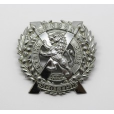 London Scottish Chrome Cap Badge