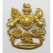Victorian Royal Artillery Officer's Gilt Helmet Plate