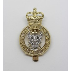 The Queen's Own Mercian Yeomanry Anodised (Staybrite) Cap Badge - Queen's Crown