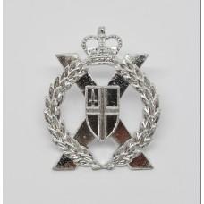 London Territorials Anodised (Staybrite) Cap Badge - Queen's Crown