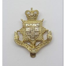 University of London O.T.C. Anodised (Staybrite) Cap Badge - Queen's Crown