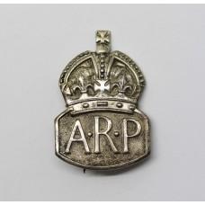 WW2 Air Raid Precaution (A.R.P.) Hallmarked Silver Badge