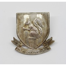 Blundell School O.T.C. Officer's Silver Plated Cap Badge