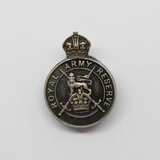 Royal Army Reserve 1938 Hallmarked Silver Lapel Badge
