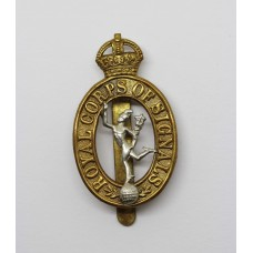 Royal Signals Cap Badge - King's Crown (1st Pattern)