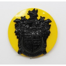Scarce Tonbridge School O.T.C. Black Plastic Cap Badge