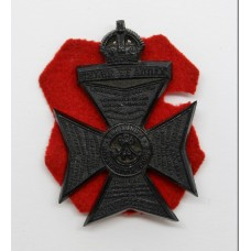 King's Royal Rifle Corps (K.R.R.C.) WW2 Plastic Economy Cap Badge - King's Crown