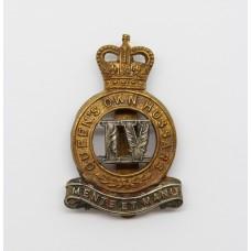 4th Queen's Own Hussars Cap Badge - Queen's Crown