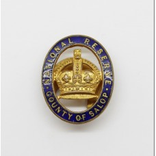 National Reserve County of Salop (Shropshire) Enamelled Lapel Badge