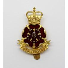Queen's Lancashire Regiment Enamelled Cap Badge