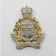 Gibraltar Regiment Anodised (Staybrite) Cap Badge - Queen's Crown