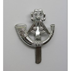Light Infantry Anodised (Staybrite) Cap Badge