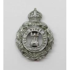Isle of Wight Rifles Chrome Cap Badge - King's Crown