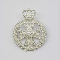 Royal Green Jackets Officer's Dress Cap Badge - Queen's Crown