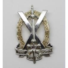 Tayforth University O.T.C. Anodised (Staybrite) Cap Badge