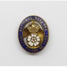 National Reserve West Riding of York Enamelled Lapel Badge