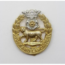 York & Lancaster Regiment Anodised (Staybrite) Cap Badge