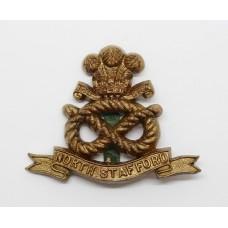 North Staffordshire Regiment WW2 Plastic Economy Cap Badge