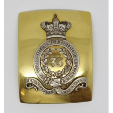 Victorian 33rd Regiment of Foot (1st Yorkshire West Riding Regiment) Officer's Shoulder Belt Plate