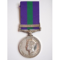 General Service Medal (Clasp - Palestine 1945-48) - Tpr. W. McInnes, 15th / 19th Hussars