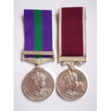 General Service Medal (Clasp - Cyprus) and Long Service & Good Conduct Medal - Cpl. C. Aitken, Royal Army Pay Corps