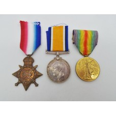 WW1 1914 Mons Star Medal Trio - Dvr. F. Watts, 12th Field Coy. Ro