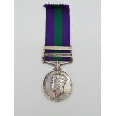 General Service Medal (Clasps - Palestine, Palestine 1945-48) - Pte. E.V. May, Loyal Regiment