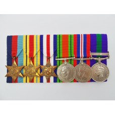 WW2 and General Service Medal (Clasp - Palestine 1945-48) Group of Six - Capt. J. Lloyd, Loyal Regiment