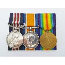 WW1 Military Medal, British War Medal and Victory Medal - Cpl. W.W. Ball, York and Lancaster Regiment