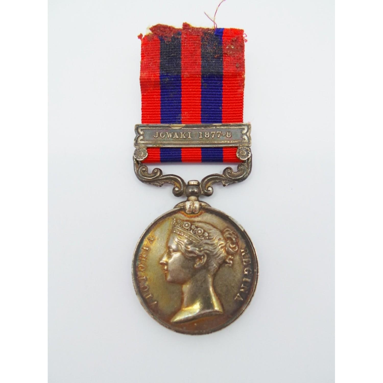 1854 India General Service Medal (Clasp - Jowaki 1877-8
