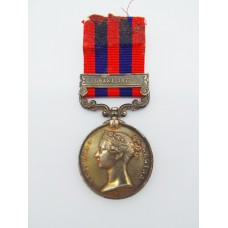 1854 India General Service Medal (Clasp - Jowaki 1877-8) - Pte. W