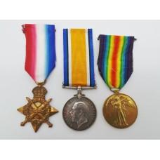 WW1 1914-15 Star Medal Trio - 2nd Lieut. G.P. Hall, South Lancashire Regiment