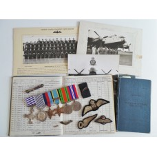 WW2 D.F.C., D.F.M. & King's Commendation for Valuable Services in the Air Medal Group with Caterpillar Badge, Log Books & Photographs - Squadron Leader R.H. Hardy, Royal Air Force