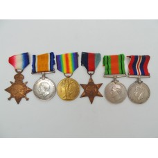 WW1 1914-15 Star Trio and WW2 Medal Group of Six - Pte. G.H. Thompson, 6th Dragoons