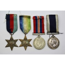WW2 Naval Long Service & Good Conduct Medal Group of Four - F. Rickett, Ch. Sto. H.M.S. Victory, Royal Navy
