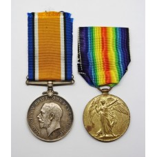 WW1 British War & Victory Medal Pair - Pte. P. Redman, Middle