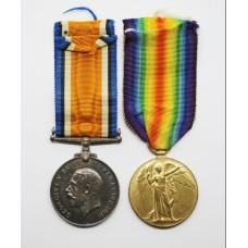 WW1 British War & Victory Medal Pair - Pte. H.W. Cox, Devonshire Regiment