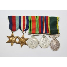 WW2 and Territorial Efficiency Medal Group of Five - W.O.II. W.J. Ainsworth, Royal Engineers