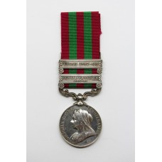 1895 India General Service Medal (Clasps - Punjab Frontier 1897-98, Tirah 1897-98) - Lieut. E.N. Davis, 3rd Infantry, Hyderabad Contingent