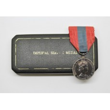 ERII Imperial Service Medal in Box of Issue - William Falkner Stewart