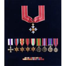 C.B.E., Military Cross, WW2, GSM (Clasp - S.E. Asia 1945-46) and
